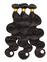 3 Peças Onda de Corpo Tramas de cabelo humano Cabelo Indiano Tramas de cabelo humano Onda de Corpo
