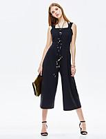 Heart Soul® Women's High Rise Wide Leg Black Casual Pants-11AA17487