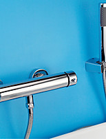 Modern Tub And Shower Widespread with  Ceramic Valve Single Handle Two Holes for  Chrome , Shower  / Bathtub Faucet
