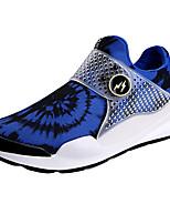 Men's Sneakers Summer Flats Satin Hook & Loop Black / Blue Running