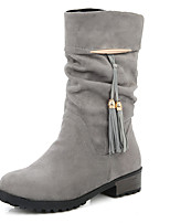 Women's Shoes Spring / Fall / Winter Heels / Fashion Boots Boots Outdoor / Casual Chunky HeelZipper /16-2