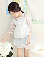 Costume & Blazer Fille de Mosaïque Décontracté / Quotidien Coton Eté / Printemps Bleu / Blanc