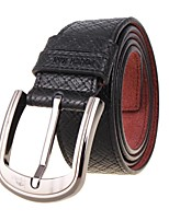 Men's Belts Casual Pin Simple Fashion Business Leather Strap Black
