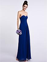 Lanting Bride Ankle-length Chiffon Bridesmaid Dress Sheath / Column Sweetheart with Side Draping