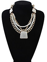 Stylish And Elegant Multi-Stone Pearl Necklace Trapezoid
