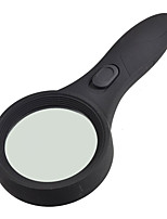 Handheld 5X 6 LED Illuminated Magnifier Magnifying Glass with Money Detection