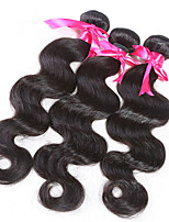 3 pc/Lot Unprocessed Brazilian Remy Virgin Hair Weft Body Wave Natural Color Hair Extensions