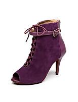 Chaussures de danse(Violet) -Non Personnalisables-Talon Aiguille-Synthétique-Latine / Salsa
