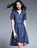 Viva Vena® Women's Round Neck Short Sleeve Above Knee Dress-VA88125