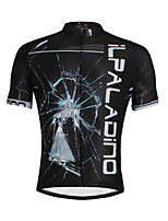 PaladinSport Men 's Short Sleeve Cycling Jersey DX636 Broken Glass