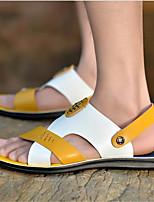 Zapatos de Hombre-Sandalias-Exterior / Deporte-Semicuero-Azul / Amarillo
