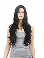 Capless Black Color High Quality Natural Curly Synthetic Wig
