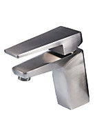 Bathroom Sink Faucet Lavatory Basin Mixer Tap Single Lever Handle Brushed Nickel Long Handle