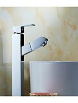 Contemporain Set de centre Position sur plancher with  Valve en céramique Mitigeur un trou for  Chromé , Robinet lavabo