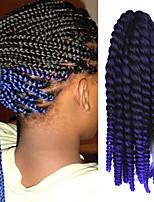 Roxa Havana Tranças torção Extensões de cabelo 12 Kanikalon 1 costa 100g grama Tranças de cabelo