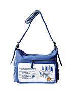Flower Princess® Women Canvas Shoulder Bag Blue-A2012YXD01