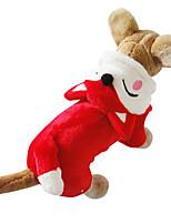Gatos / Cães Fantasias / Camisola com Capuz / Macacão Vermelho / Branco Inverno / Primavera/Outono Animal Fantasias / Dia Das Bruxas, Dog