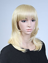 Capless Blonde Color Long High Quality Natural Straight Synthetic Wig