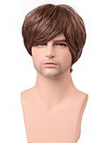 Handsome Short Layered Straight Men's Capless Human Hair Wig