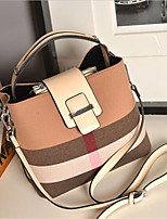 Women-Formal-PU-Shoulder Bag-Beige / Red / Black