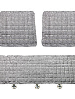 Flax Car Seat Cushion 3PCS Gray