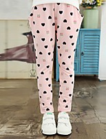 Girl's Casual/Daily Print Pants,Cotton Spring / Fall Black / Pink / Gray