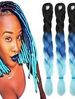 Blau Gehäkelt Jumbo Haarverlängerungen 24 Kanekalon 1 Strand 100g Gramm Haar Borten