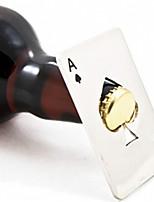 New Hot venda 1pc ace cartão do póquer de jogo elegante de espadas ferramenta bar dom tampa de garrafa de refrigerante de cerveja abridor
