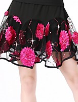 Latin Dance Bottoms Women's Performance Polyester Draped / Flower(s) 1 Piece   Sleeveless Dropped Skirt