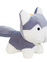 Husky Dog Plush Toys New Simulation Large Pillow Valentine 20cm Gray White Bell