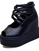 Women's Sandals Summer Sandals PU Casual Wedge Heel Others Black / White Others