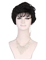 Women's Fashionable Black color Short Length Wavy Hair Synthetic Wigs
