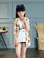 Girl's Casual/Daily Patchwork Suit & Blazer,Cotton Summer Pink / White / Yellow