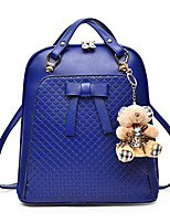 Women-Formal / Casual / Office & Career / Shopping-PU-Backpack-White / Blue / Red / Black