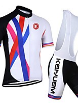 KEIYUEM® Summer Cycling Jersey Short Sleeves + BIB Shorts Ropa Ciclismo Cycling Clothing Suits #K102