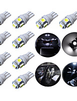 10pcs T10 5SMD 5050 automobile ha condotto la lampada lampadine 12V 1W allo xeno auto