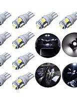 10pcs T10 5050 5SMD coche llevó la lámpara de bombillas de xenón de automóviles 1w 12v