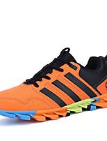 zapatos de los hombres de la PU a zapatillas de deporte de atletismo atlético corriendo talón otros planos negro / verde / naranja
