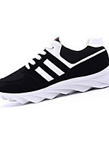 Men's Shoes Outdoor / Athletic Fabric Fashion Sneakers Black / Blue