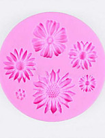 1PCS flower shaped Chocolate Candy Jello 3D silicone Mold soap Mould Cartoon cake tools