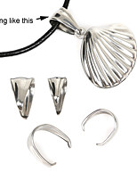 Beadia 40Pcs Stainless Steel Pendant Clips & Bail Connector Clasps(Mixed 2 Sizes)