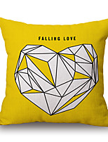 Cotton/Linen Pillow Cover,Geometric / Patchwork / Quotes & Sayings Accent/Decorative / Modern/Contemporary / Casual