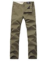 Lesmart Men's Straight Pants Gray / Green-LW15104