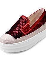 Mujer-Plataforma-Plataforma / Creepers / Confort / Punta Redonda-Zapatos de taco bajo y Slip-Ons-Exterior / Vestido / Casual-Sintético /