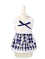Cat / Dog Dress Red / Blue Summer / Spring/Fall Plaid/Check / Bowknot Plaid, Dog Clothes / Dog Clothing-Petstyle
