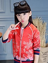 Girl's Casual/Daily Solid Suit & Blazer,Faux Fur / Cotton Winter / Spring / Fall Green / Red
