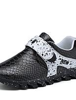 Boy's Sneakers Summer Flats Leather Casual Flat Heel Hook & Loop Black / Blue / Pink