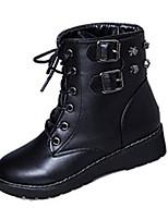 Women's Boots Fall / Winter Combat Boots Fleece Casual Low Heel Others Black