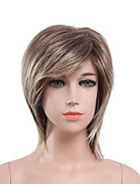 Capless Blonde Brown Ombre Color High Quality Natural Straight Synthetic Wig