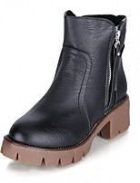 Women's Boots Fall / Winter Fashion Boots PU Casual Flat Heel Others Black / Brown / Gray